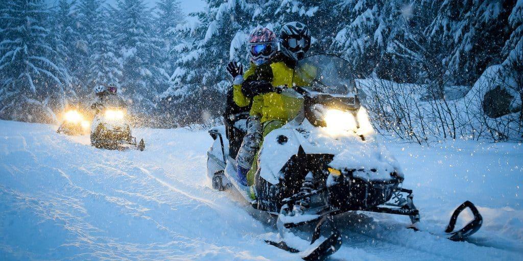 En motoneige, la limite de vitesse maximale est de 70 km/h. - Photo Gracieuseté