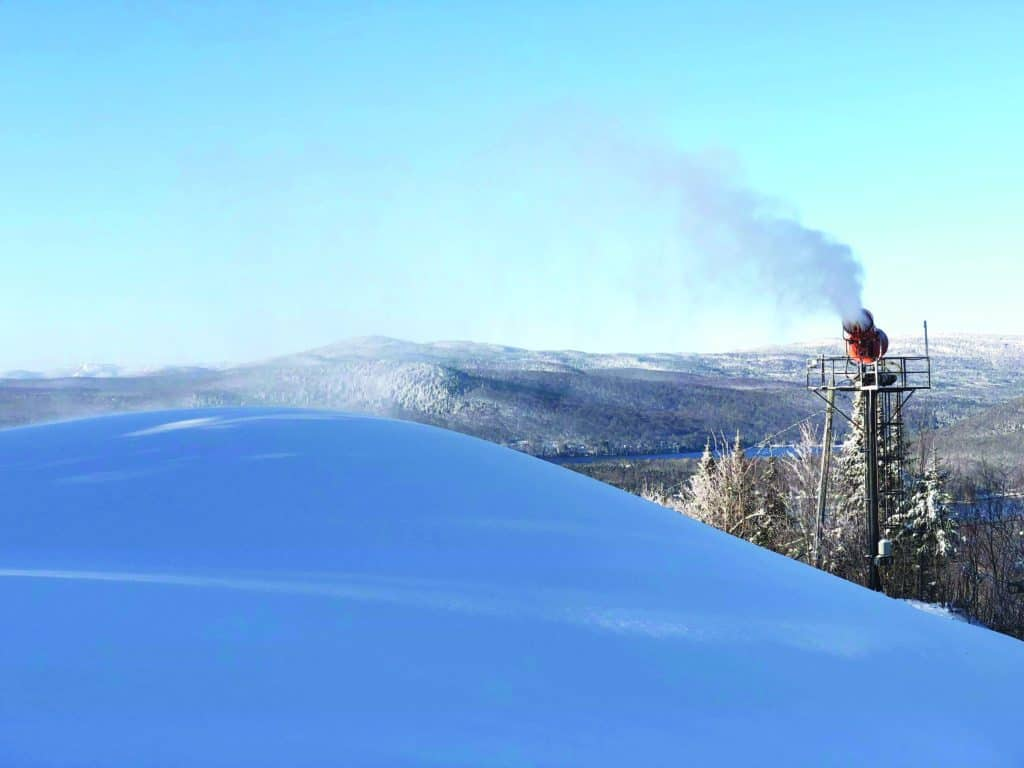 L'enneigement va bon train à Ski Garceau cette année. - Photo gracieuseté