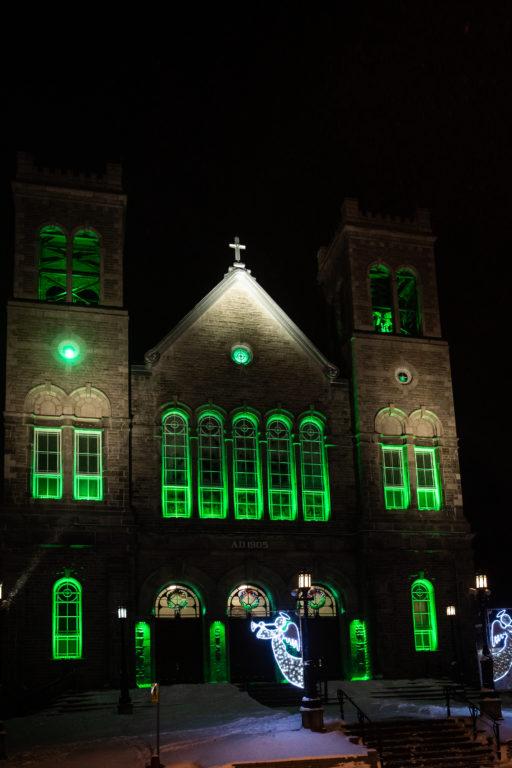 L'église de Ste-Agathe s'illumine
