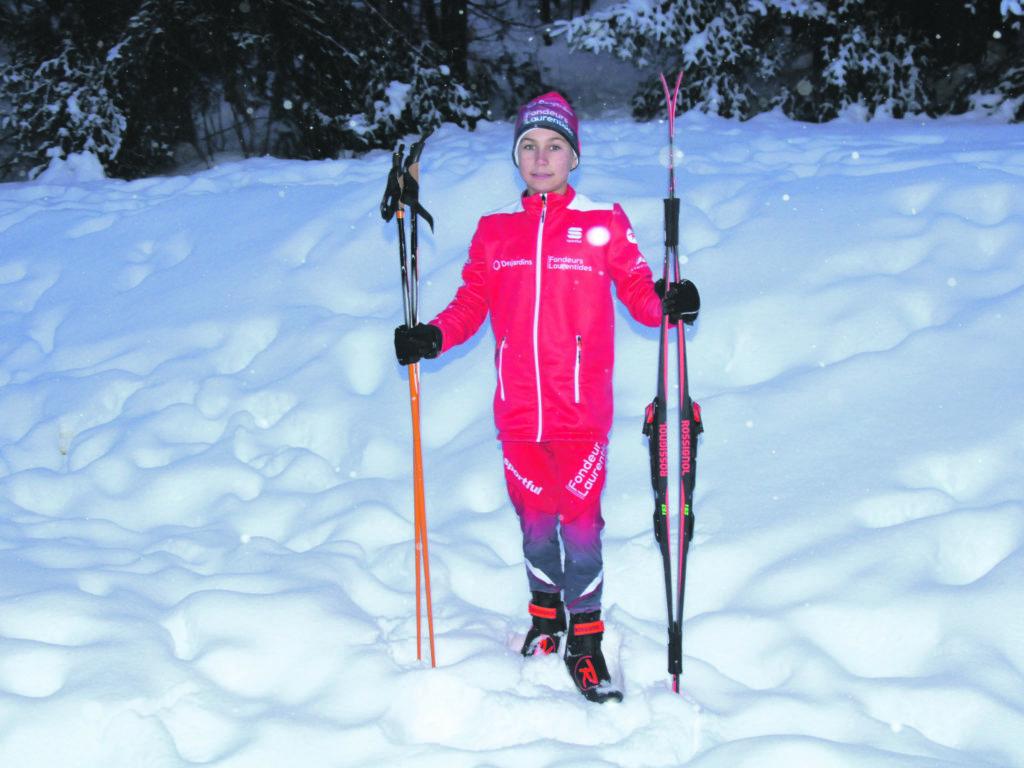 Florent Brière, 11 ans, est mordu de ski de fond depuis son jeune âge. Photo L'info du Nord – Maxime Coursol