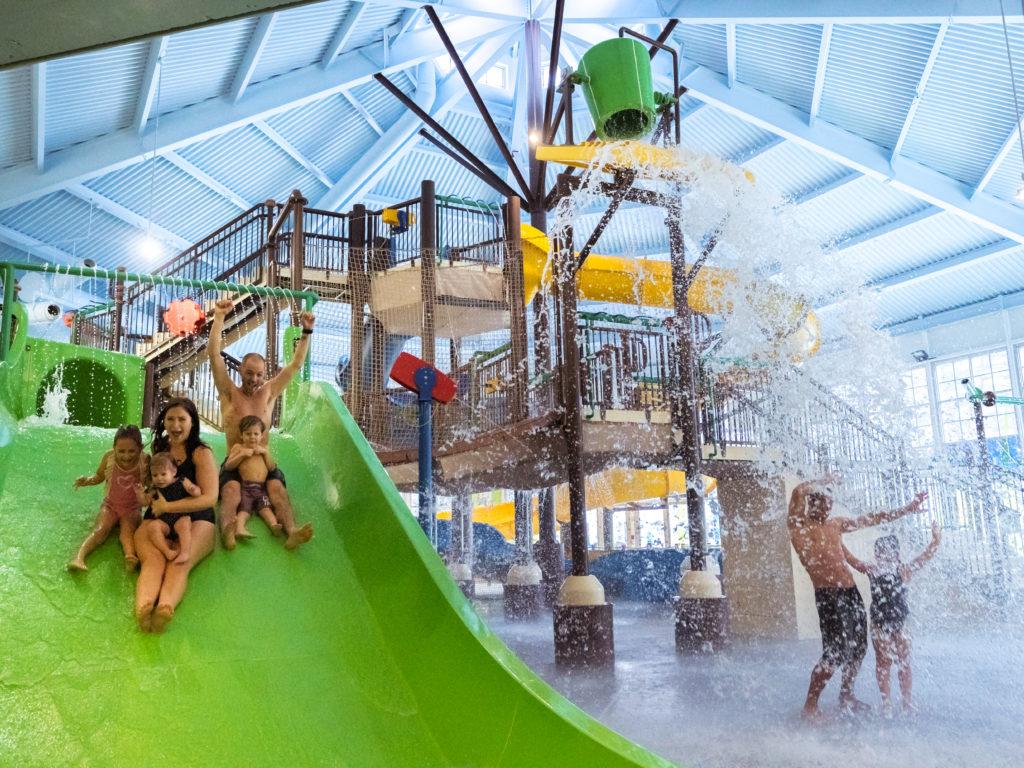 Le nouveau centre familial de jeux aquatiques Brind'O Aquaclub a ouvert officiellement ses portes en décembre 2019 grâce à un investissement de 3,8 M$ de l'Association de villégiature Tremblant. (Photo gracieuseté - Tremblant)