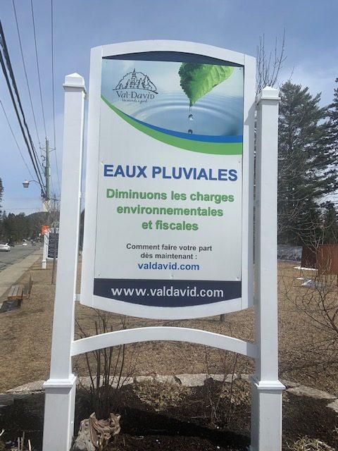 Val-David veut réduire l'apport des eaux pluviales à son usine d'épuration