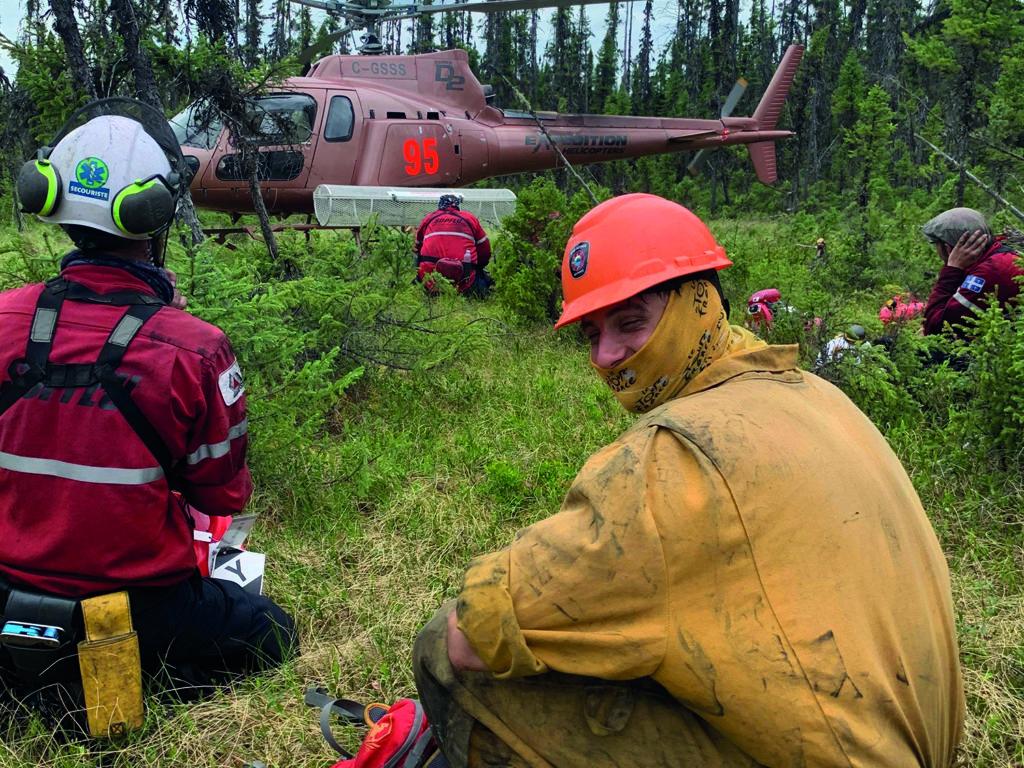 Les pompiers de la Régie des Monts peuvent maintenant être déployés sur le terrain pour combattre des feux de forêt avec la SOPFEU. (Photo gracieuseté)