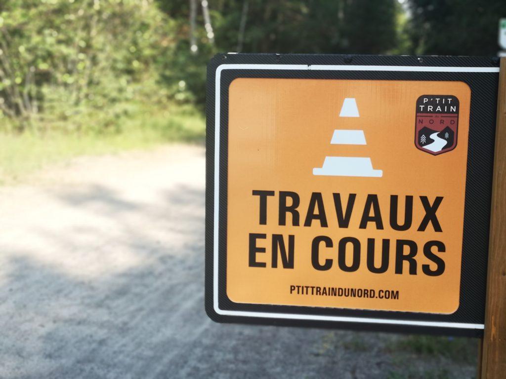 L'asphaltage du P'tit Train du Nord s'amorce à Val-Morin
