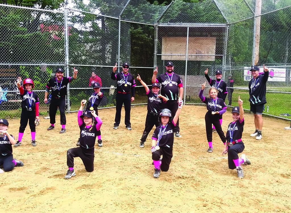 Baseball Atome B: les Prédatrices championnes