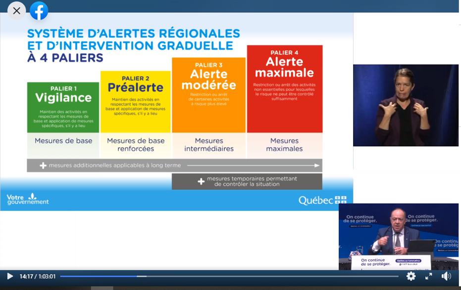 Québec met en place un système d'alertes et d'interventions régionales