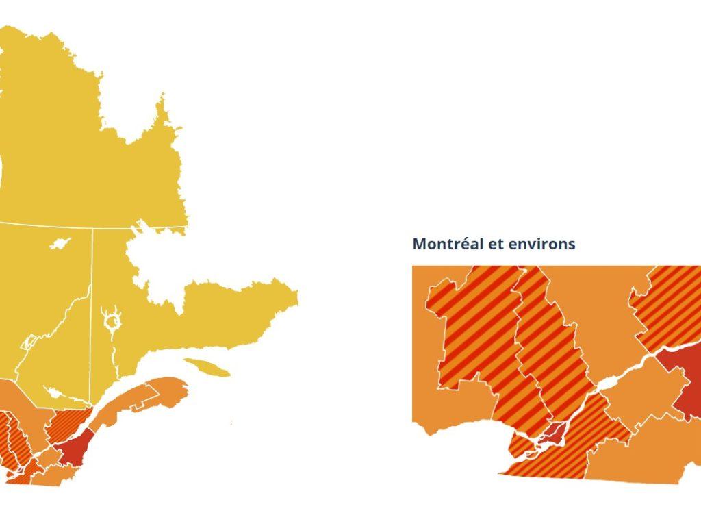COVID-19: La région passe au palier d'alerte orange