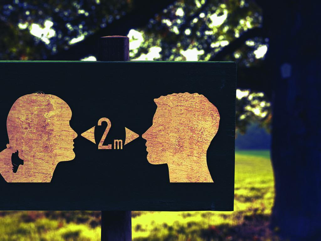 La distanciation sociale est l'une des règles de base à respecter pour réussir à briser la deuxième vague indique le directeur régional de santé publique des Laurentides, le Dr Éric Goyer. (Photo Pixabay)