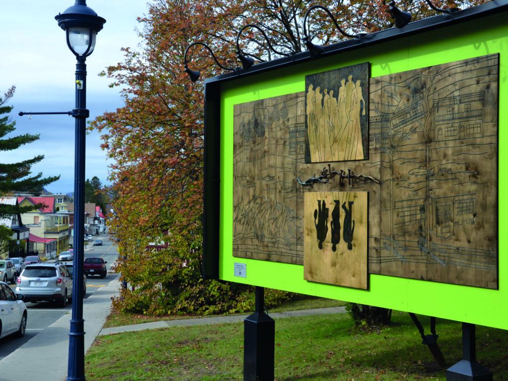 Une nouvelle œuvre d'art public en plein centre-ville à Ste-Agathe