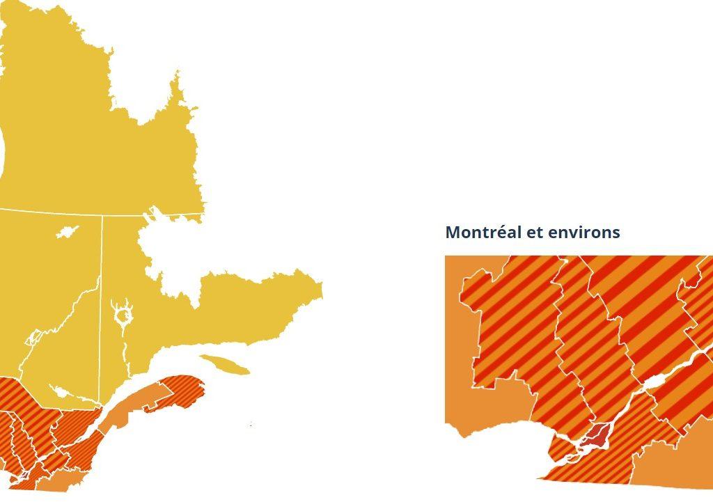 Le nord des Laurentides encore au niveau d'alerte orange