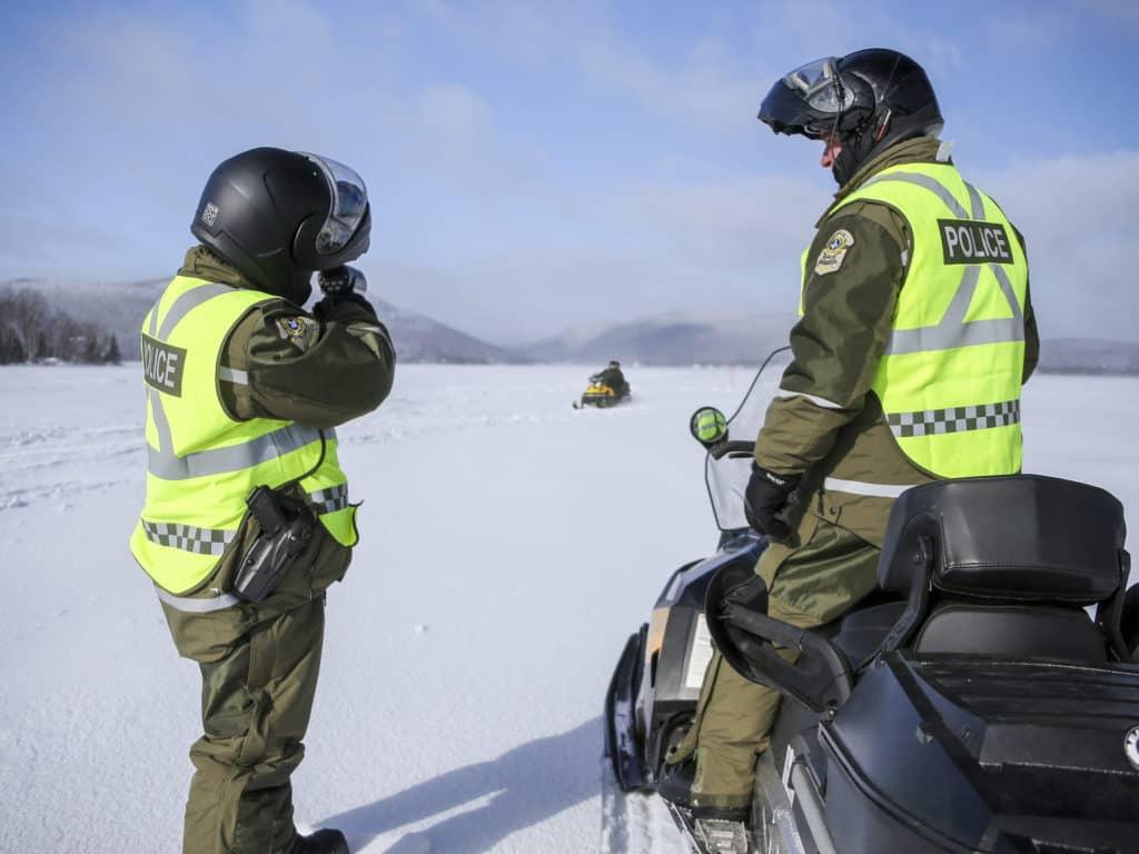 La SQ fera de la surveillance dans les sentiers de motoneige. (Photo gracieuseté)
