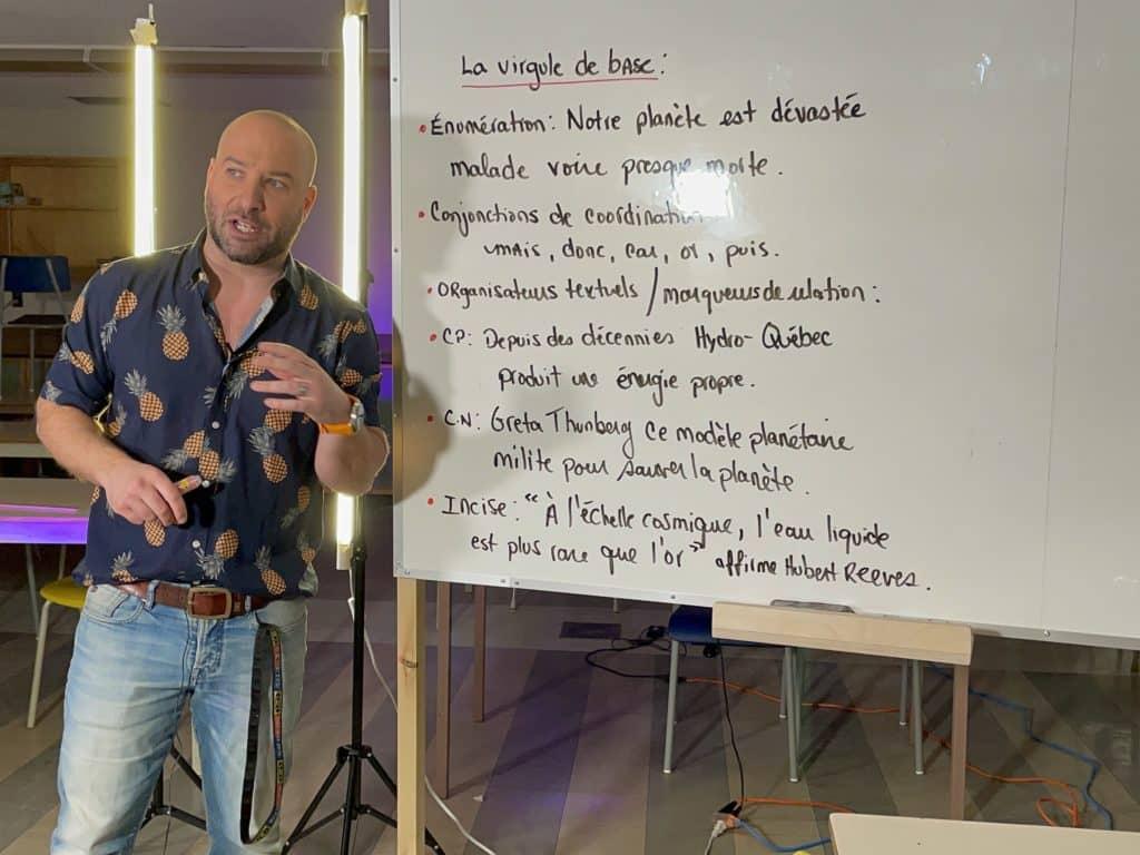 Mathieu Roy enseigne autrement
