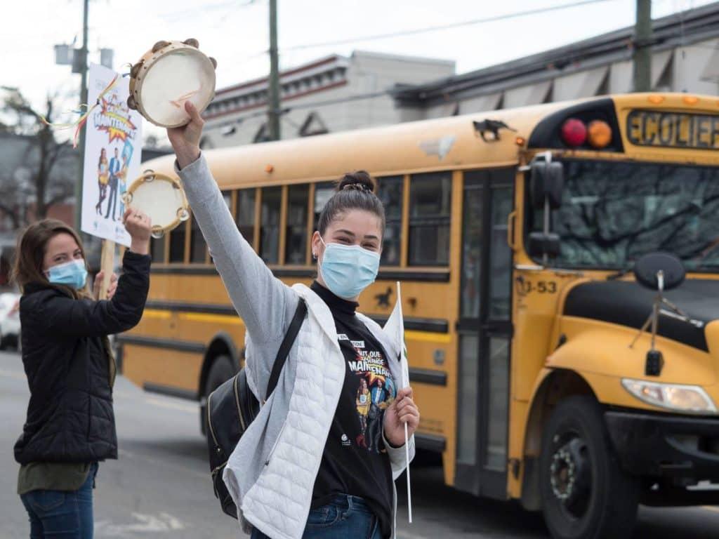 Une grève des enseignants de quelques heures a eu lieu dans la région le 14 avril 2021. (Photo Jean-Marie Savard)