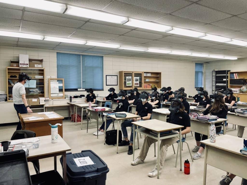 Les enseignants et les élèves ont vécu l'expérience Asteria. (Photo gracieuseté)